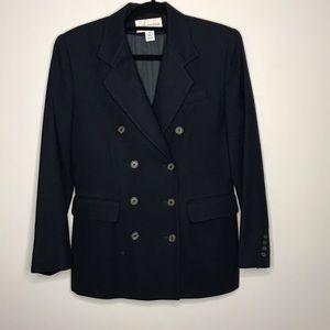 Evan Picone Navy Blue Double Breasted Blazer Sz 10